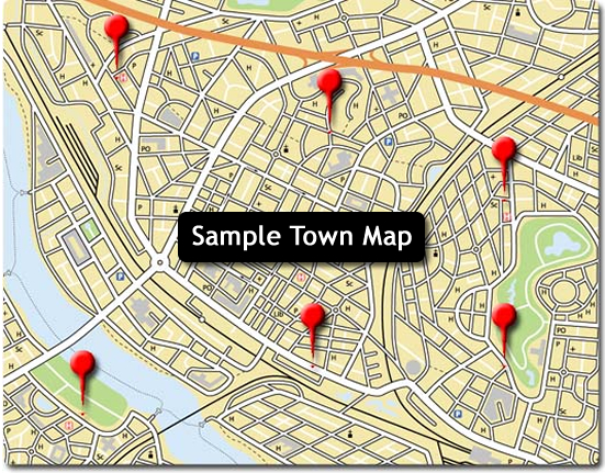 Sample Town Map